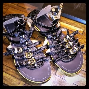 Gladiator faux leather sandals